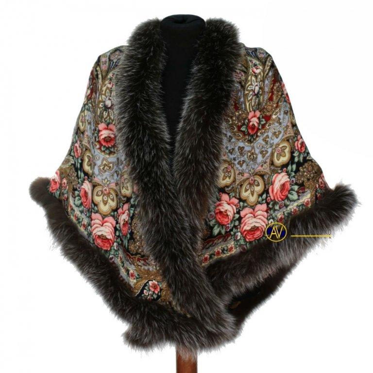 Платки с мехом купить в москве